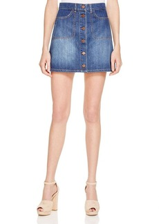 FRENCH CONNECTION Mia Denim Button Front Skirt