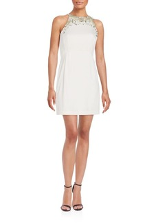 French Connection New Moon Embellished Sheath Dress