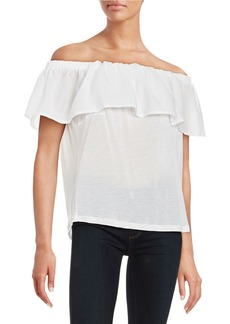 FRENCH CONNECTION Off-the-Shoulder Flutter Top