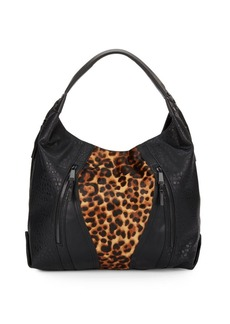 French Connection Ollie Calf Hair & Faux Leather Tote Bag