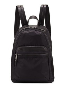 French Connection Piper Fabric Faux-Leather Backpack