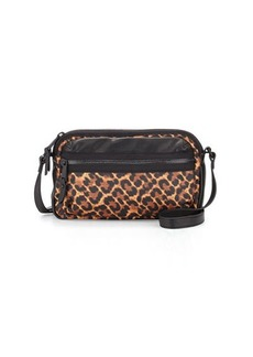 French Connection Piper Leopard-Print Crossbody Bag