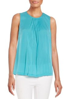 French Connection Polly Plains Pleated Top