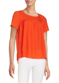 French Connection Polly Pleat-Front Top