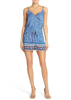 French Connection Print Surplice Romper