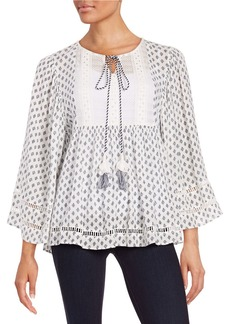 FRENCH CONNECTION Printed Peasant Top