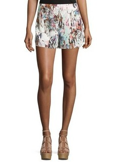 French Connection Printed Pull-On Shorts