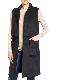 French Connection Reversible Faux Shearling Vest