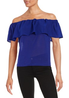 FRENCH CONNECTION Ruffled Off-Shoulder Top