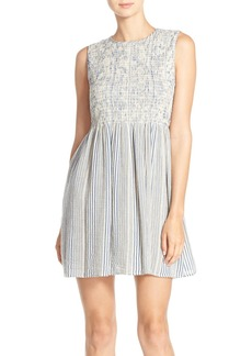 French Connection 'Serge' Stripe Babydoll Dress