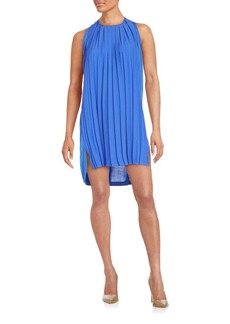 French Connection Solid Pleated Dress