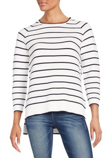 French Connection Striped Cotton Scoopneck Tee