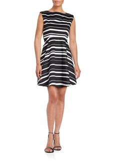 FRENCH CONNECTION Striped Fit and Flare Dress