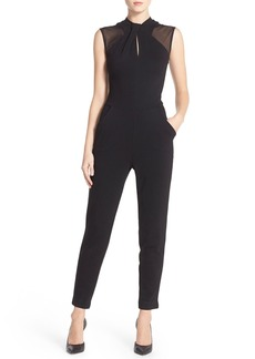 French Connection 'Tania' Mesh Insets Jumpsuit