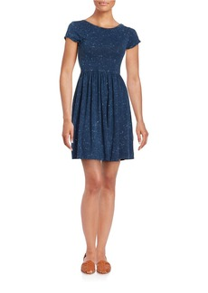 FRENCH CONNECTION Textured Fit-and-Flare Dress