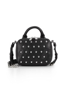 French Connection Vinny Studded Faux Leather Mini Crossbody