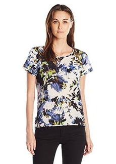 French Connection Women's Kiki Palm Short Sleeve Top