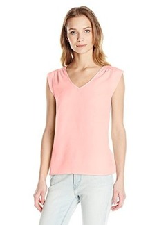 French Connection Women's Polly Plains Cap Sleeve V-Neck Top