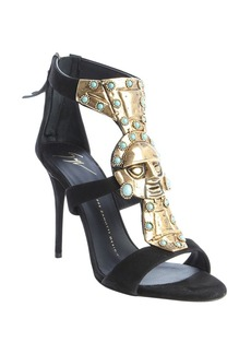 Giuseppe Zanotti black suede metal and turquoise ...