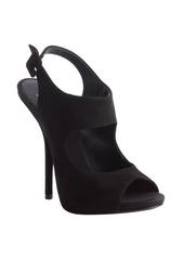 Giuseppe Zanotti black suede 'Waby' peep toe pumps