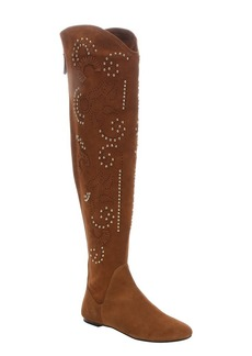 Giuseppe Zanotti brown suede 'Balet' beaded appli...