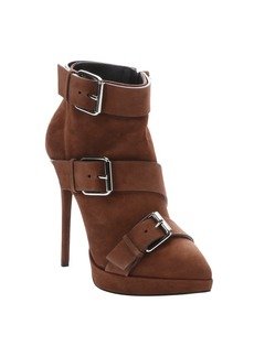 Giuseppe Zanotti cigar brown suede buckle detail ...