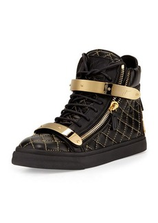 Giuseppe Zanotti Quilted Leather High-Top Sneaker