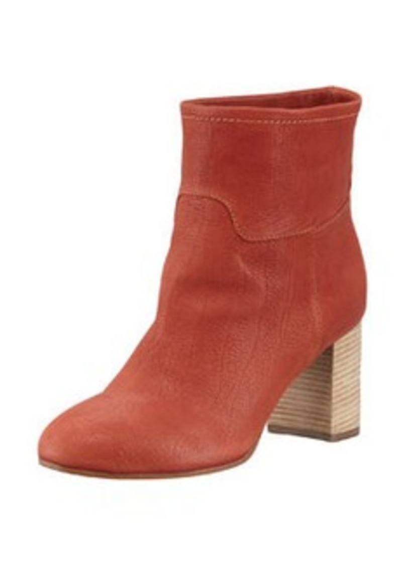 Giuseppe Zanotti Stacked-Heel Leather Ankle Boot, Burnt Orange