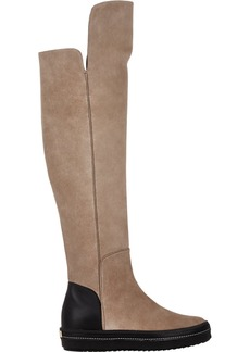 Giuseppe Zanotti Suede Over-The-Knee Sneaker Boots