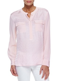 Go Silk Jacquard Two-Pocket Tunic  Jacquard Two-Pocket Tunic