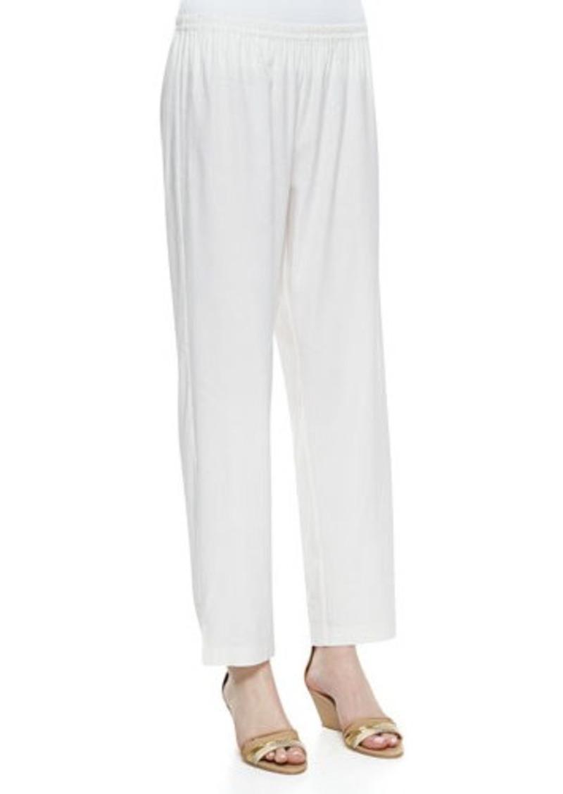 Go Silk Linen Slim Pants, White