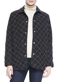 Go Silk Quilted Silk Barn Jacket  Quilted Silk Barn Jacket