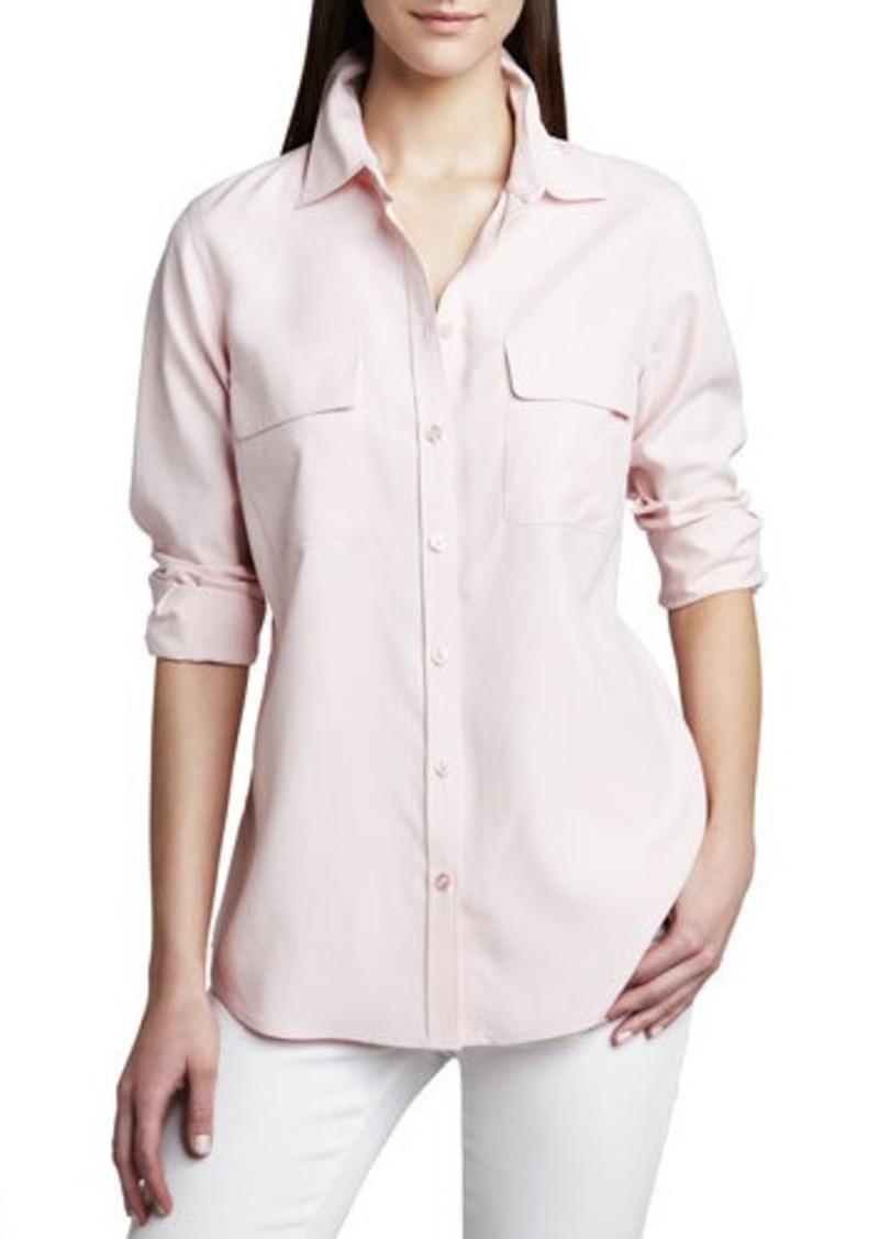 Go Silk Safari Long-Sleeve Silk Shirt