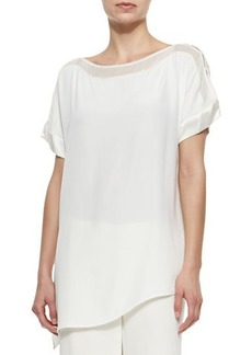 Go Silk Silk Boat-Neck Easy Tunic  Silk Boat-Neck Easy Tunic