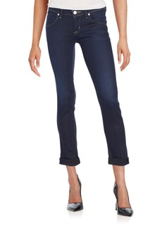 Hudson Cropped Straight-Leg Jeans