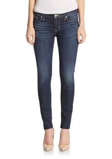 Hudson Distressed Mid-Rise Ankle Skinny Jeans