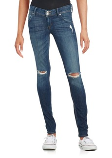 Hudson Distressed Skinny Jeans