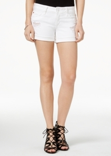 Hudson Jeans Croxley Ripped White Wash Denim Shorts