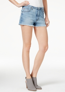 Hudson Jeans Tori Raw-Hem Kensington Wash Denim Shorts