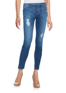 Hudson Mid-Rise Distressed Skinny Ankle Jeans