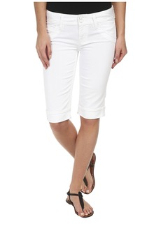 Hudson Palerme Knee Cuffed Shorts in White