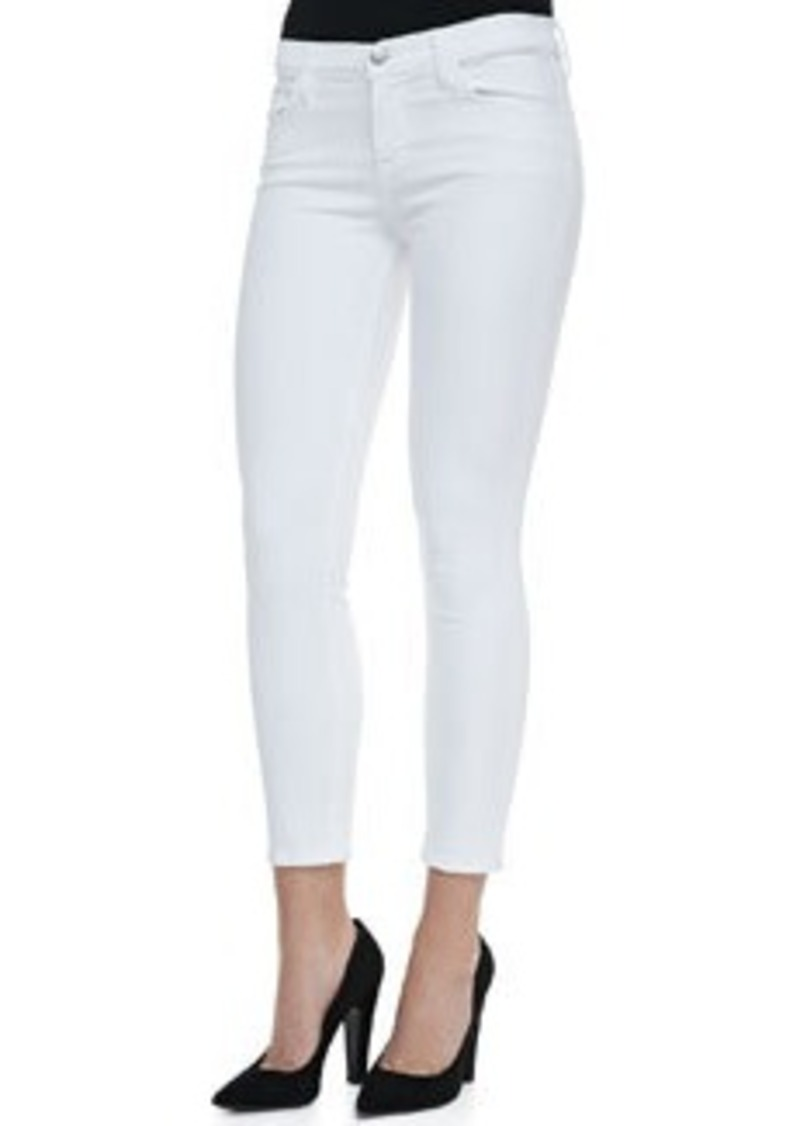 J Brand 835 Mid-Rise Cropped Jeans, Blanc   835 Mid-Rise Cropped Jeans, Blanc