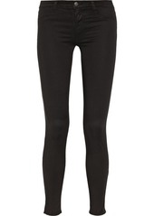 J Brand 485 Luxe Sateen mid-rise skinny jeans
