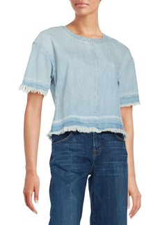 J BRAND Dallas Frayed Denim Tee