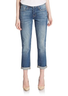 J BRAND Georgia Distressed Slim Boyfriend Jeans
