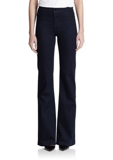 J BRAND High-Rise Tailored Flare Jeans
