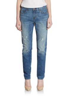 J BRAND Jake Distressed Boyfriend Jeans