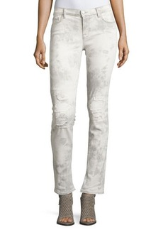 J Brand Jeans Rail Distressed Straight-Leg Jeans