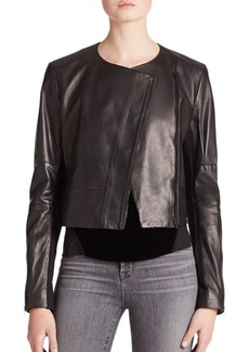 J BRAND Landing Cropped Leather Jacket