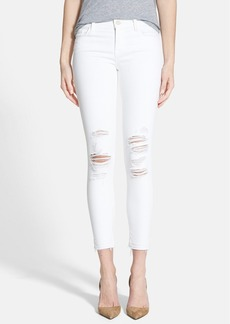 J Brand Low Rise Crop Jeans (Demented White Distressed)